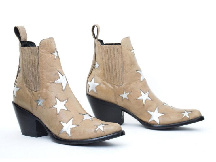 Boots en Bone Vesuvio Baby Cowhide, Mexicana