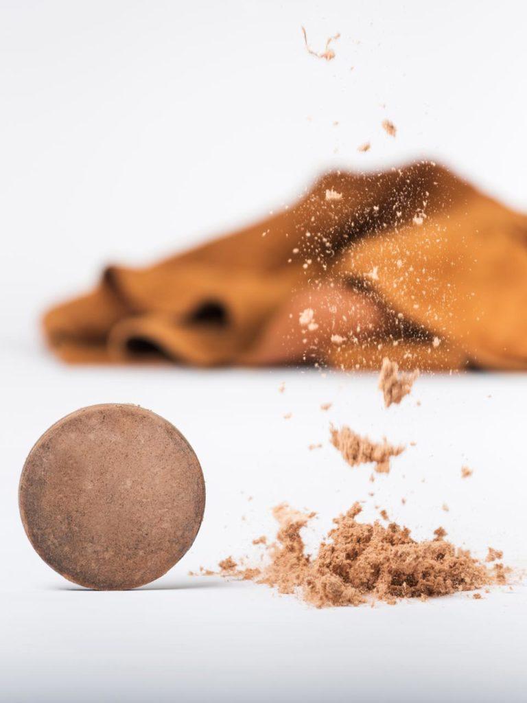 Nouvelle matière développée à partir de chutes et poudre de cuir