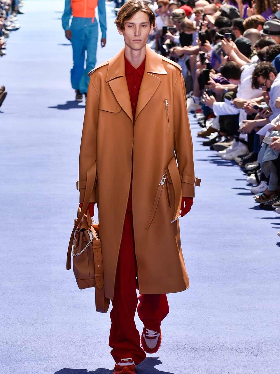 Trench en cuir Louis Vuitton