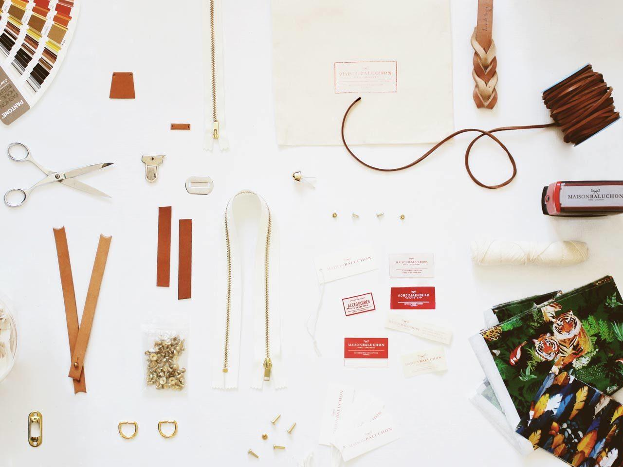 Matériaux utilisés dans l'atelier.