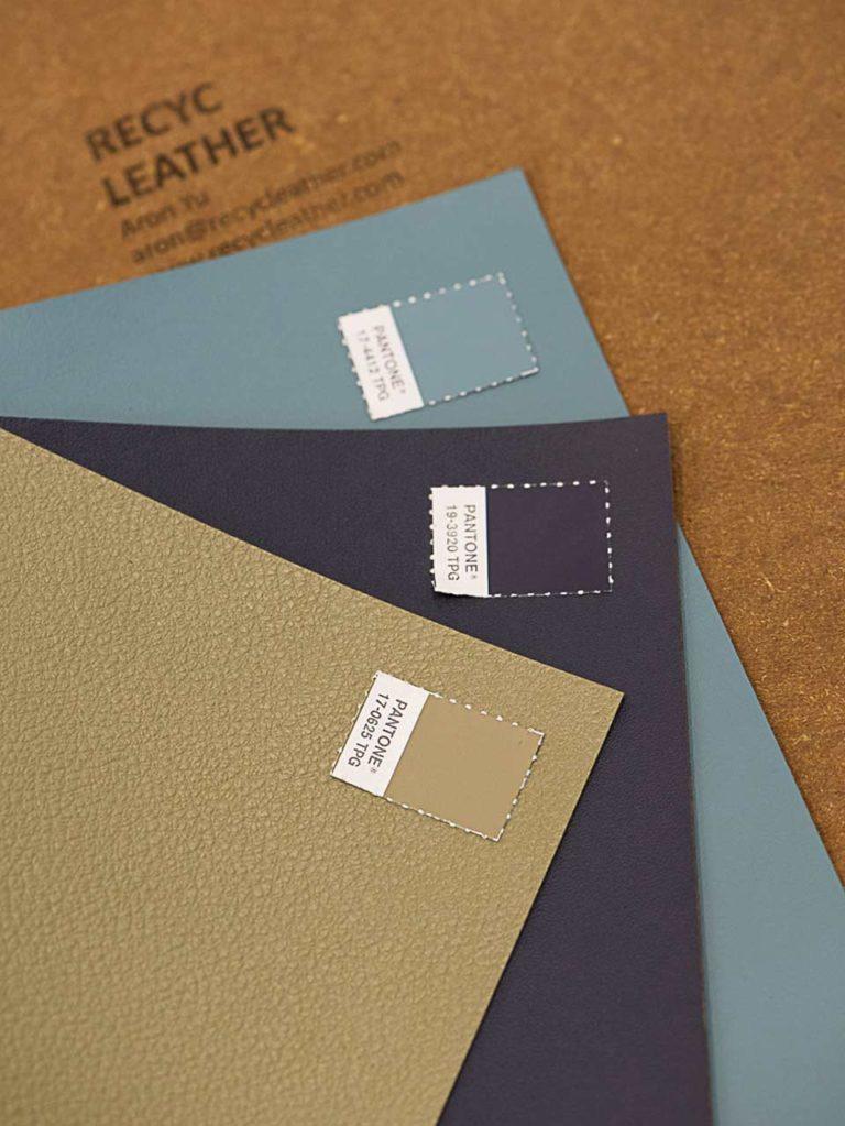 Matières Recyc Leather issues de chutes de cuir recyclées