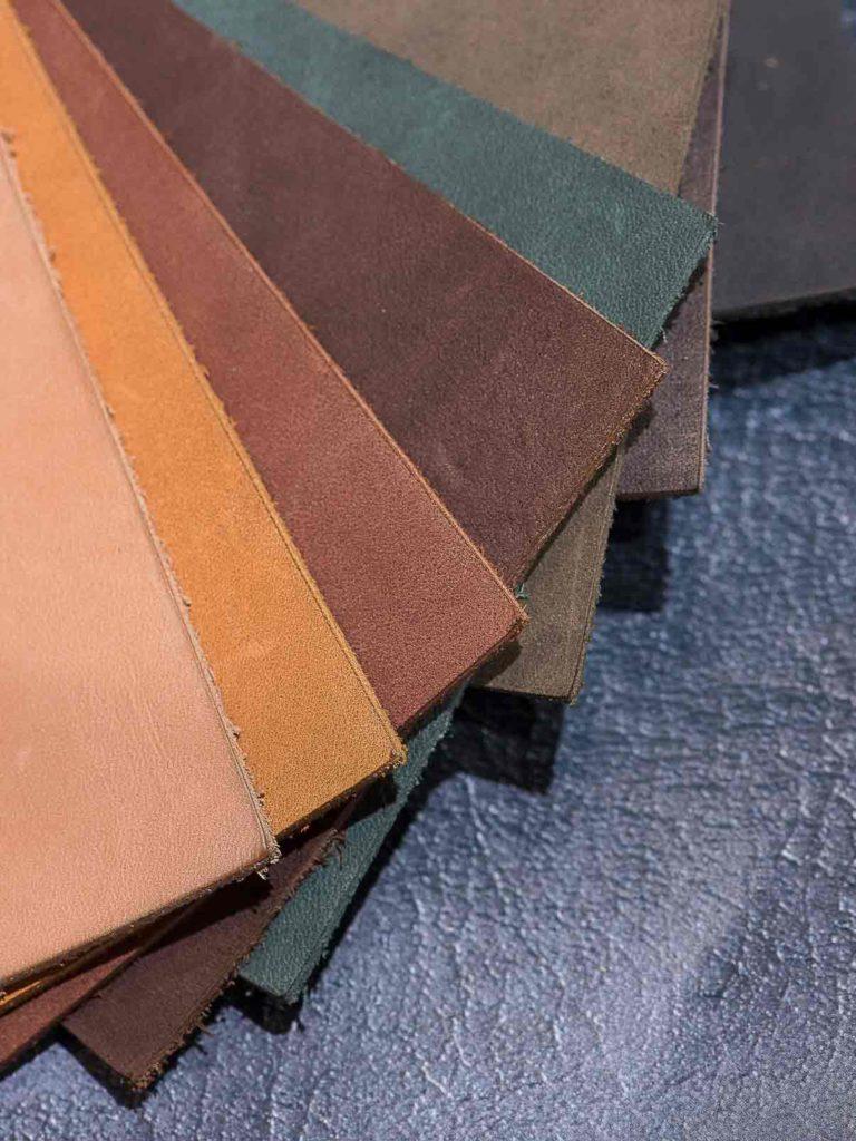 Gamme de couleurs du cuir de rhubarbe