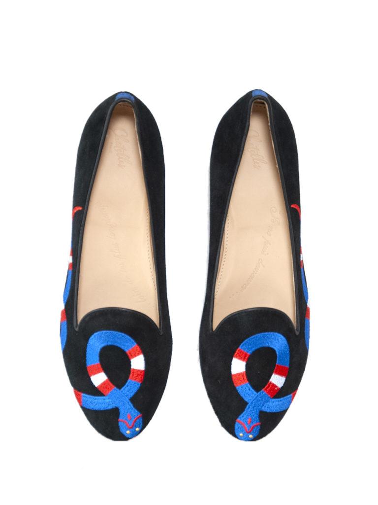 Slippers Snake Blue Chatelles,