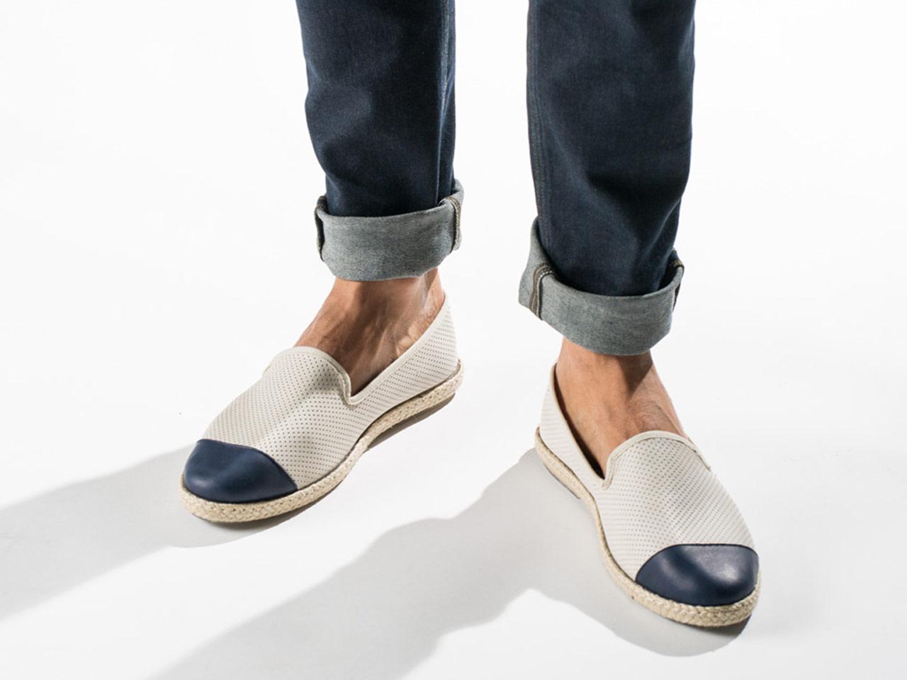 Espadrille slip on sneaker