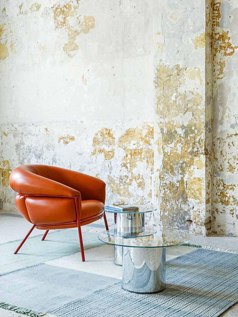 Fauteuil en cuir Grasso design Stephen Burks pour BD.Barcelona
