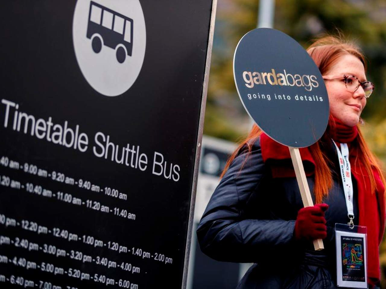 Schuttle bus entre les salons Gardabags et Expo Riva Schuh