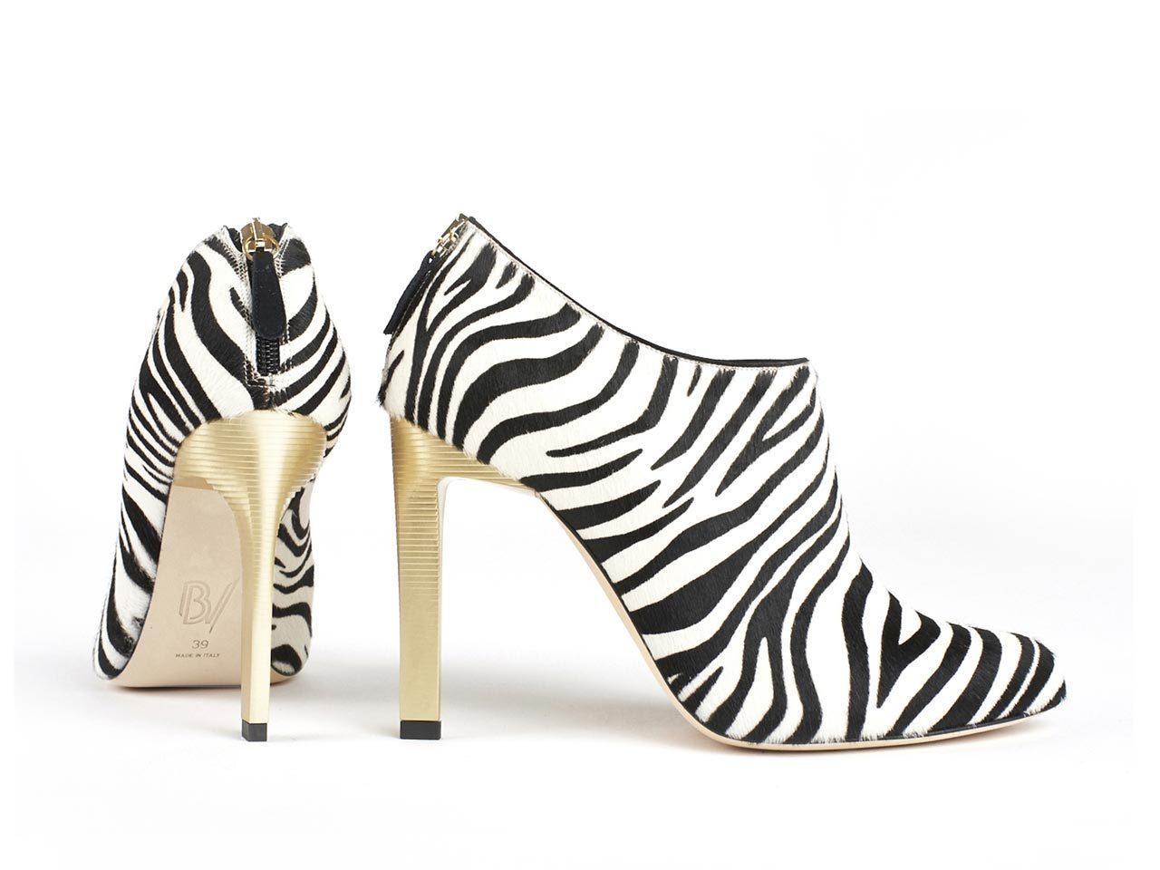 Escarpins Zebra Bettina Vermillon