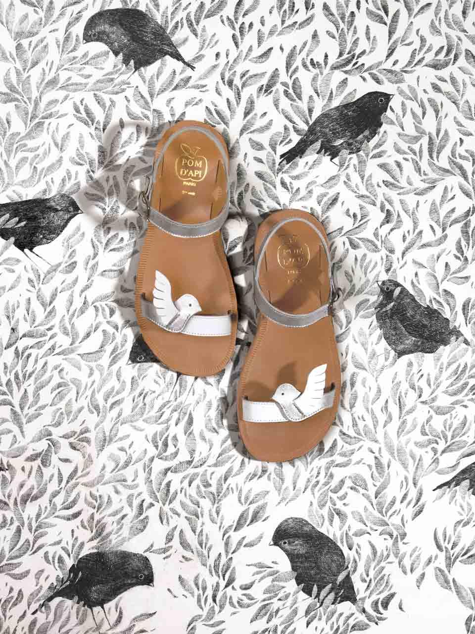Pom d'Api Plagette Birds Softy New Sparkle