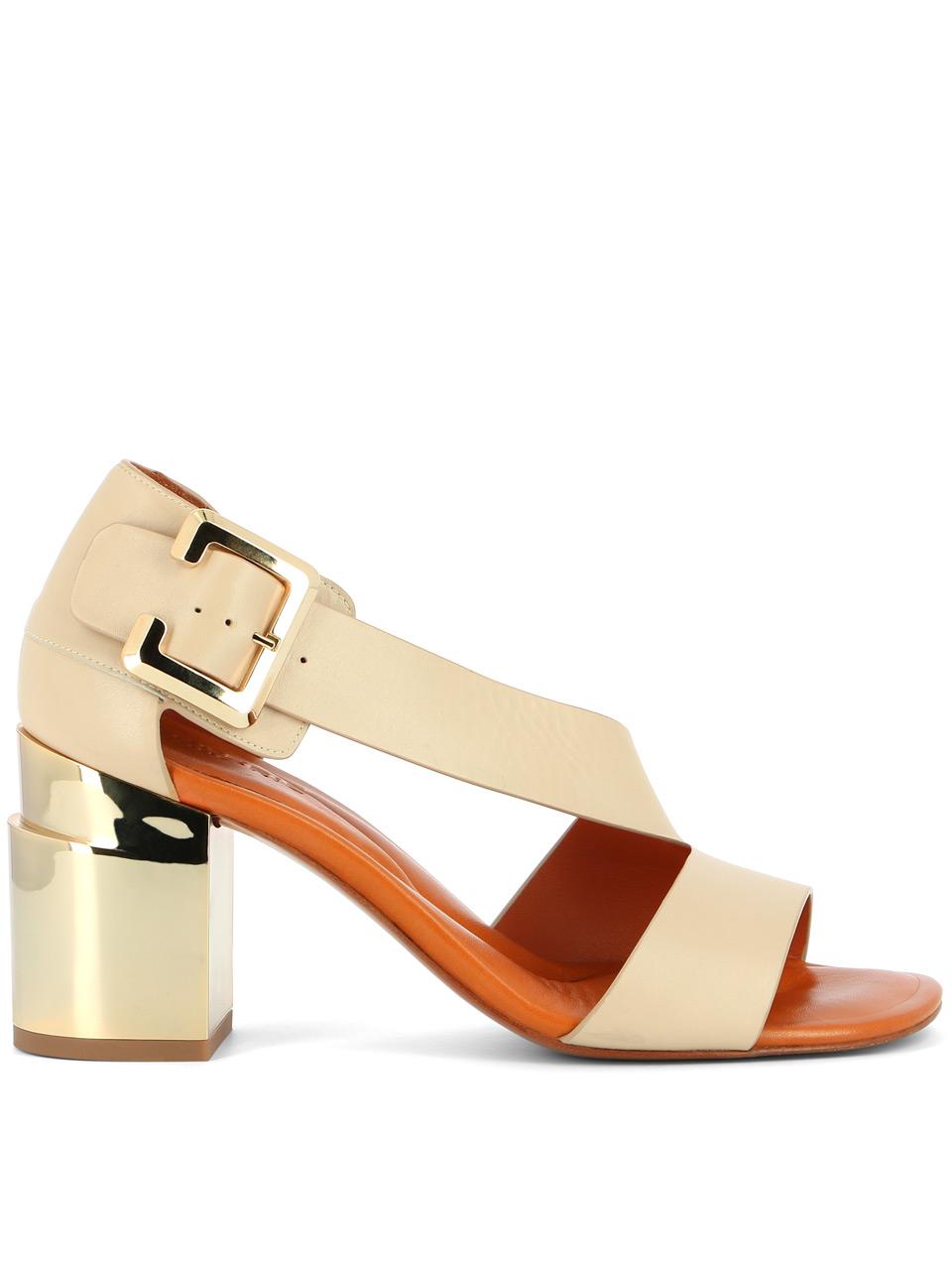 Sandale Abstract en cuir de veau