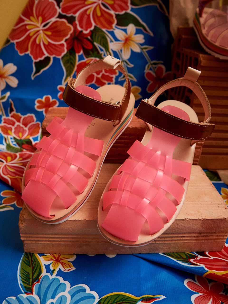 Sandales Cupuí roses Maison Mangostan