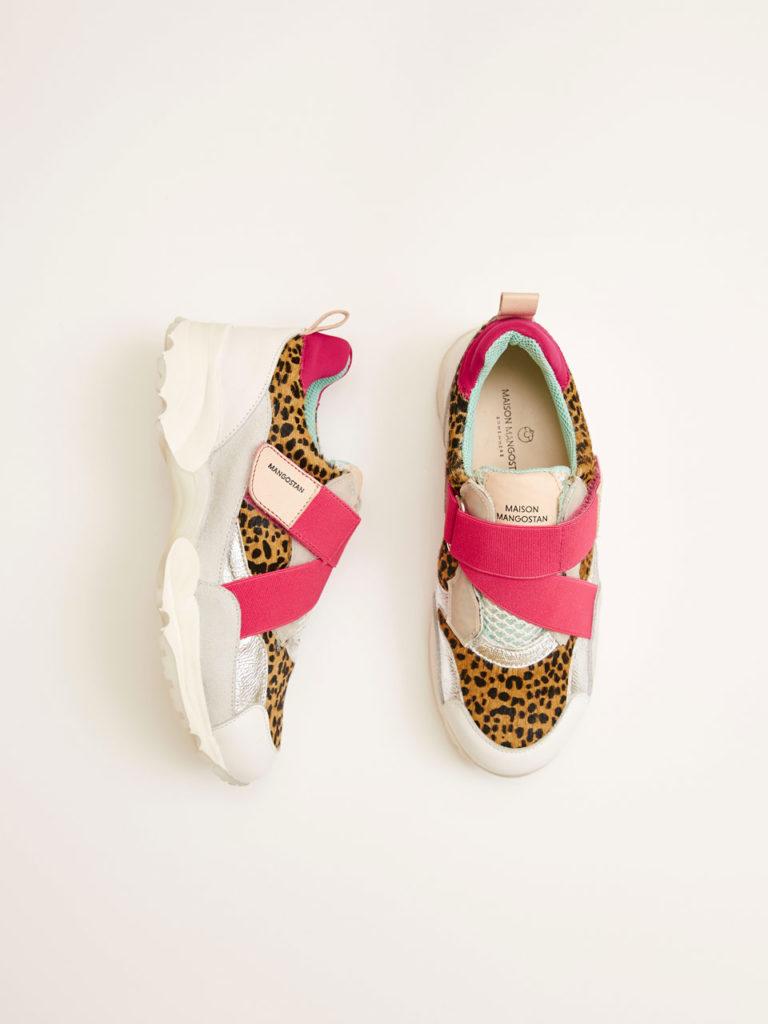 Sneakers léopard Goji Maison Mangostan
