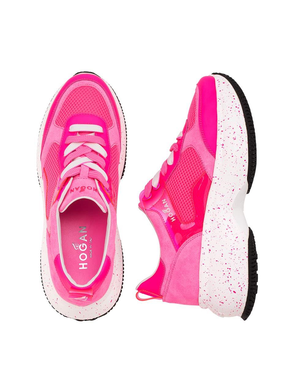 Sneakers Maxi I Active en cuir, tissu technique et maxi semelle, Hogan