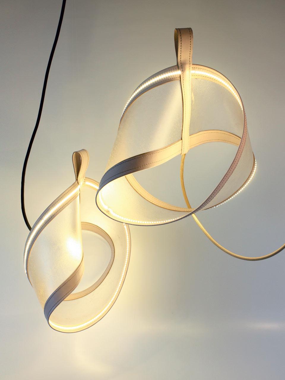 Moebius luminaire parchemin didier versavel