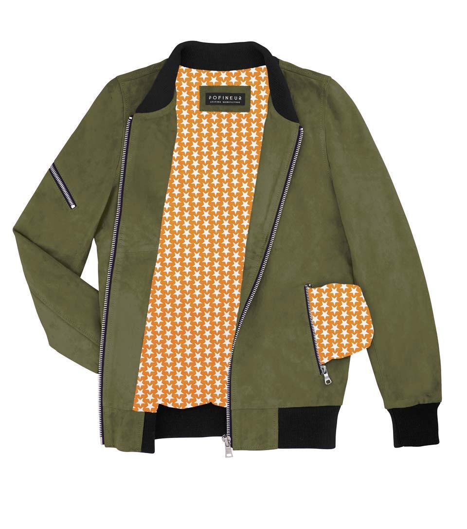 bomber-eclair-kaki-étoiles-orange-test