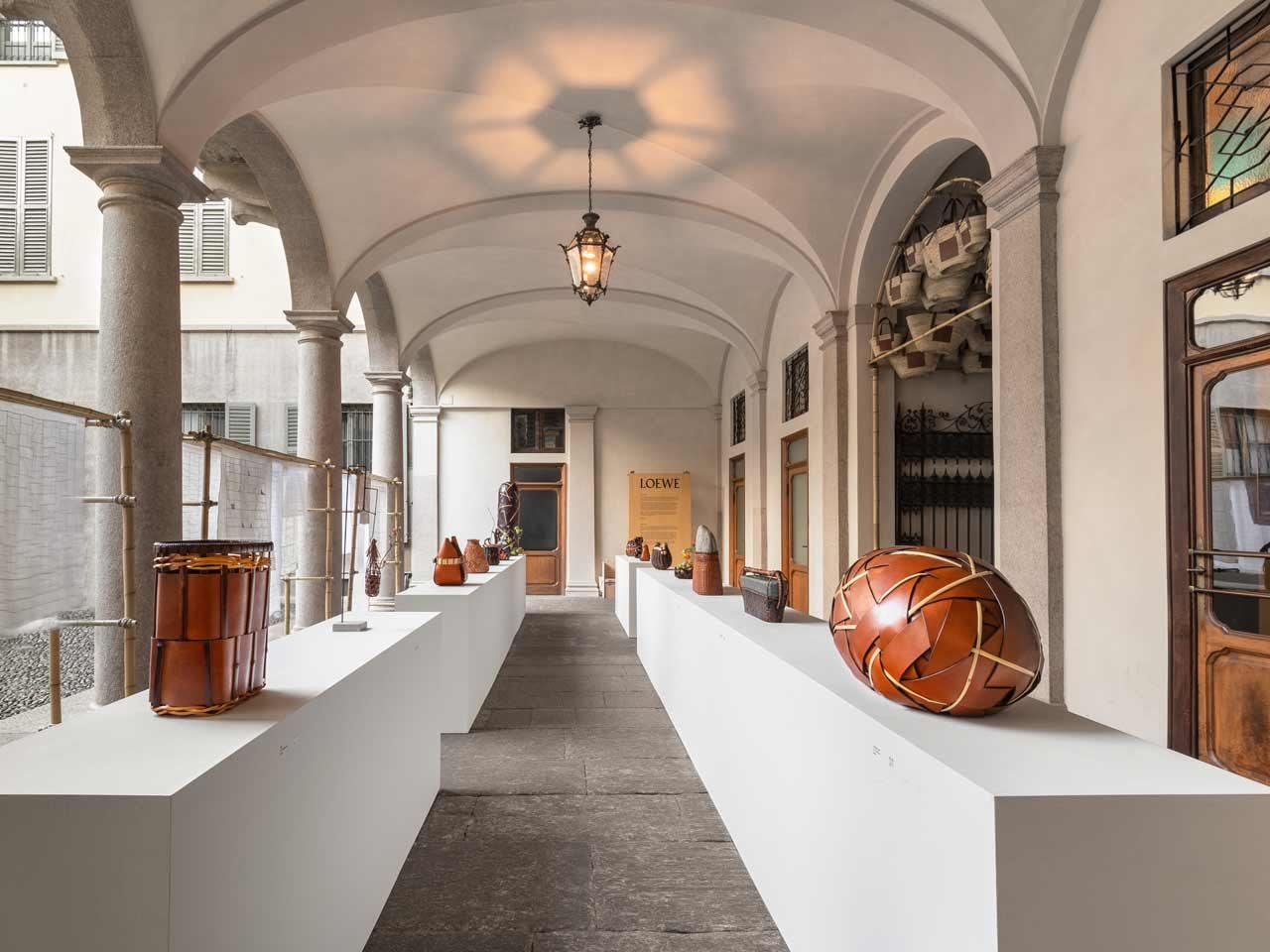 Exposition Loewe Baskets Milan Design Week FondationLoewe