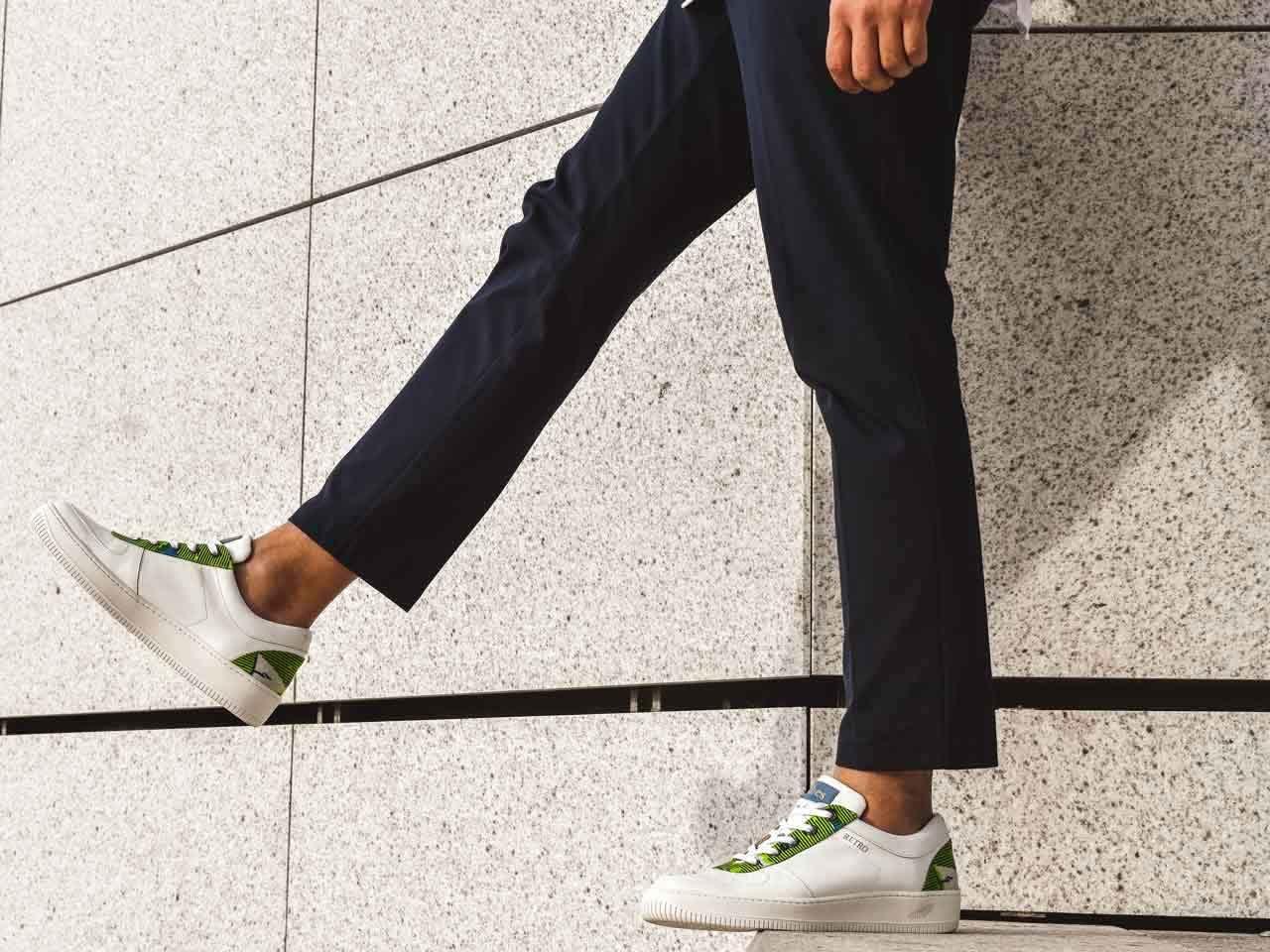 Wibes-sneaker-wax-Rétro-Green