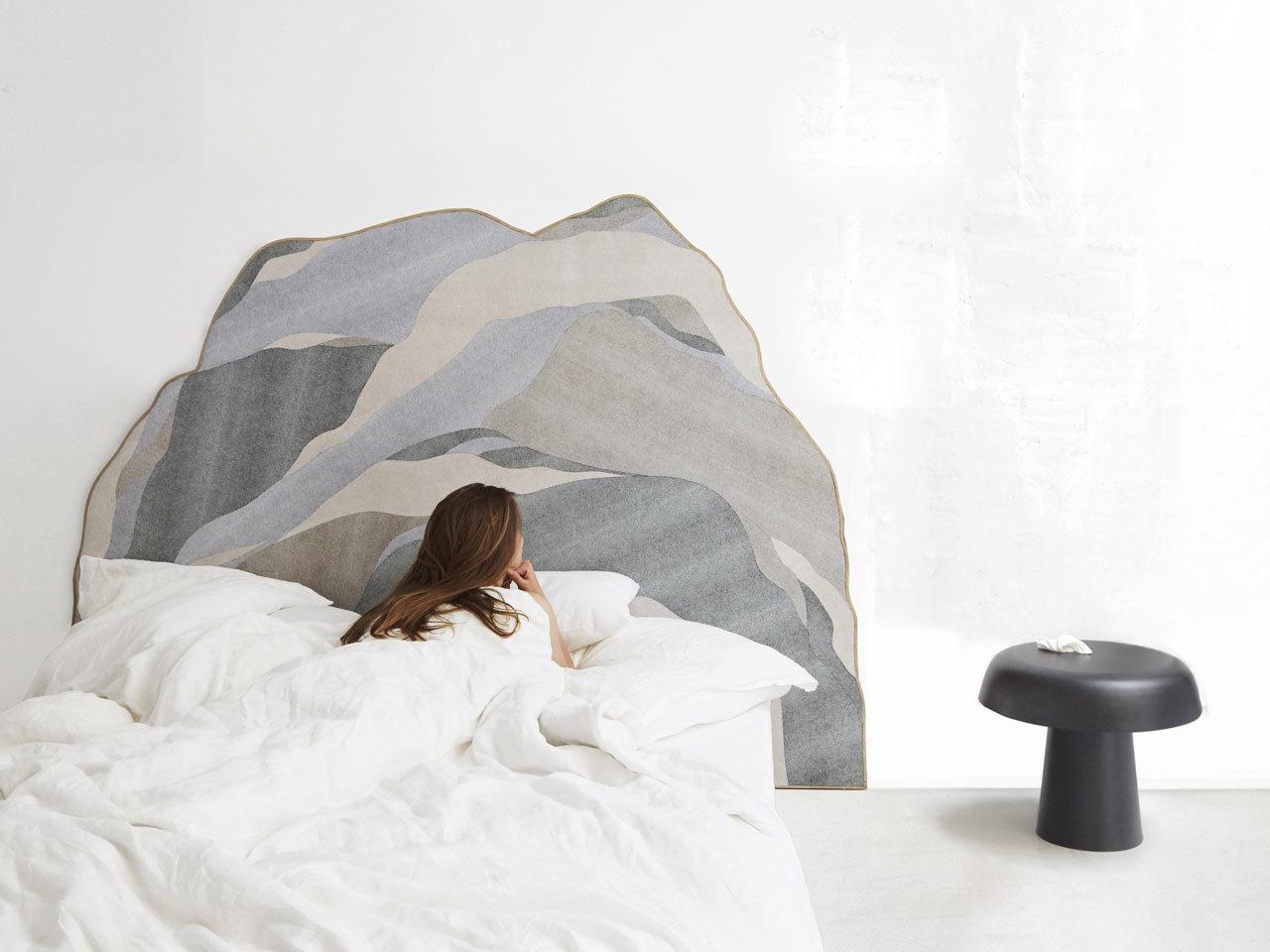 Tête de lit cuir constance guisset
