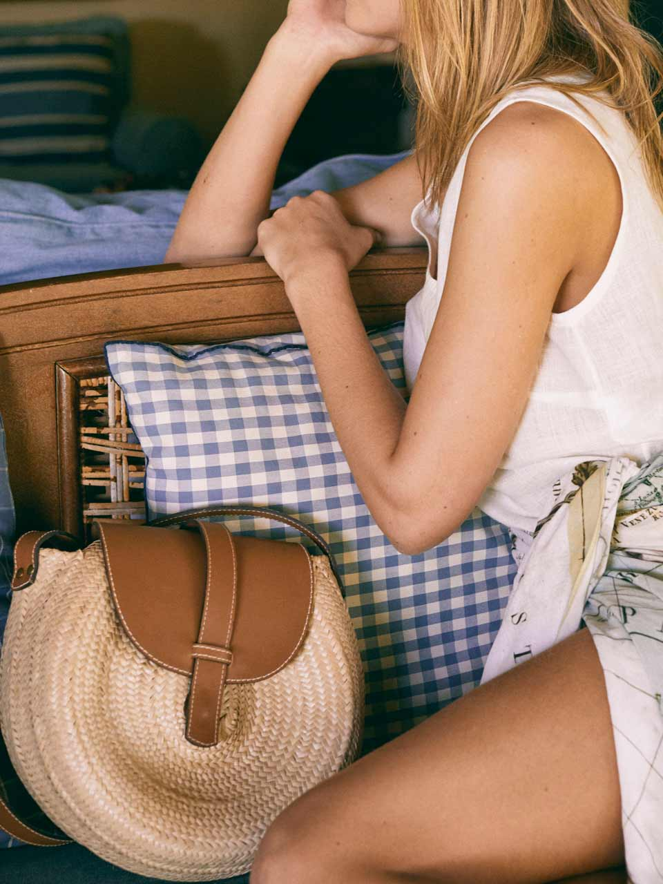 Cabana Crafts sac en paille tissee