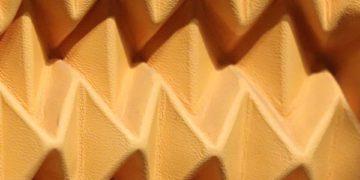 Panneau mural cuir plissé