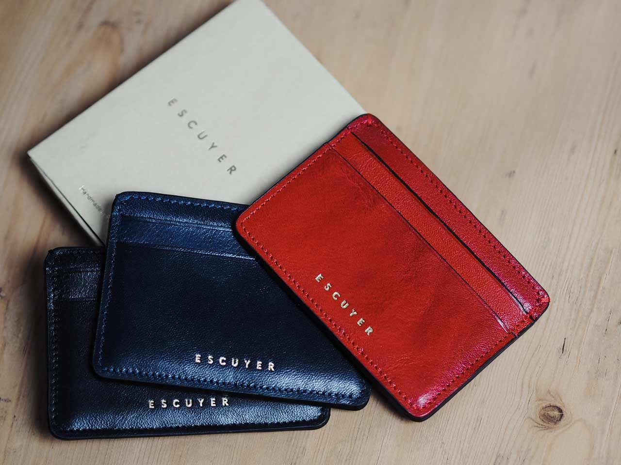 Escuyer cardholder handmade leather portugal