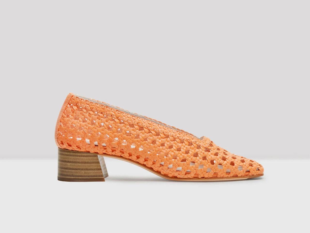 Missta chaussures cuir tressé