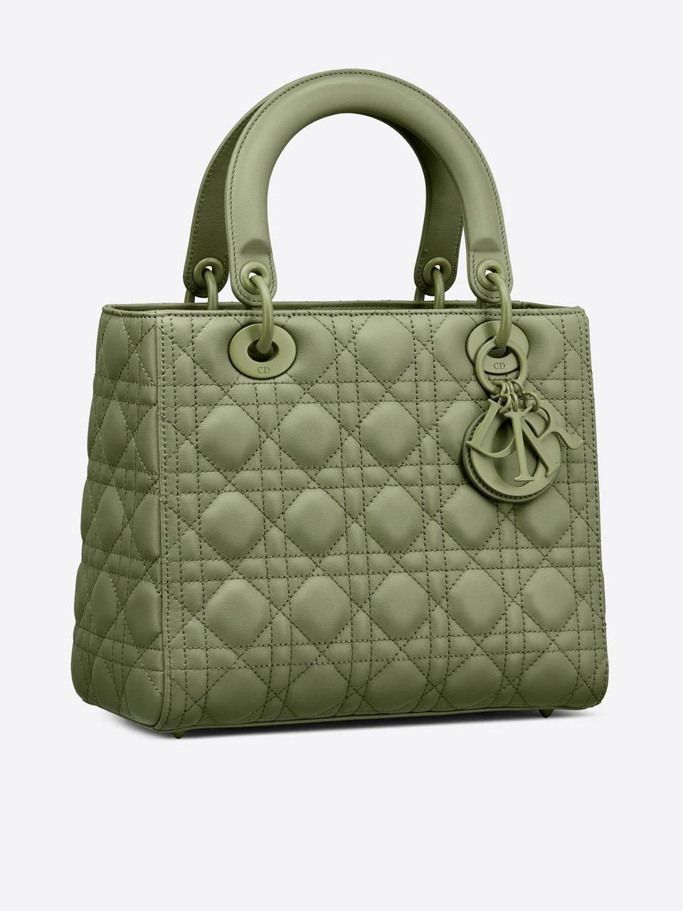 sac Lady Dior cuir tressé cannage