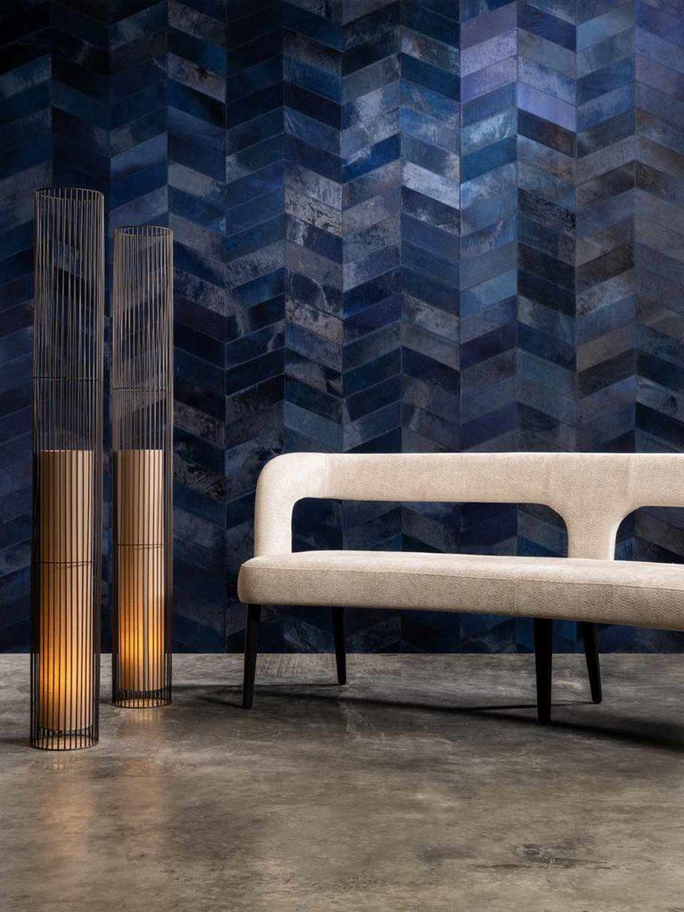 Arte tapisserie mur bleu