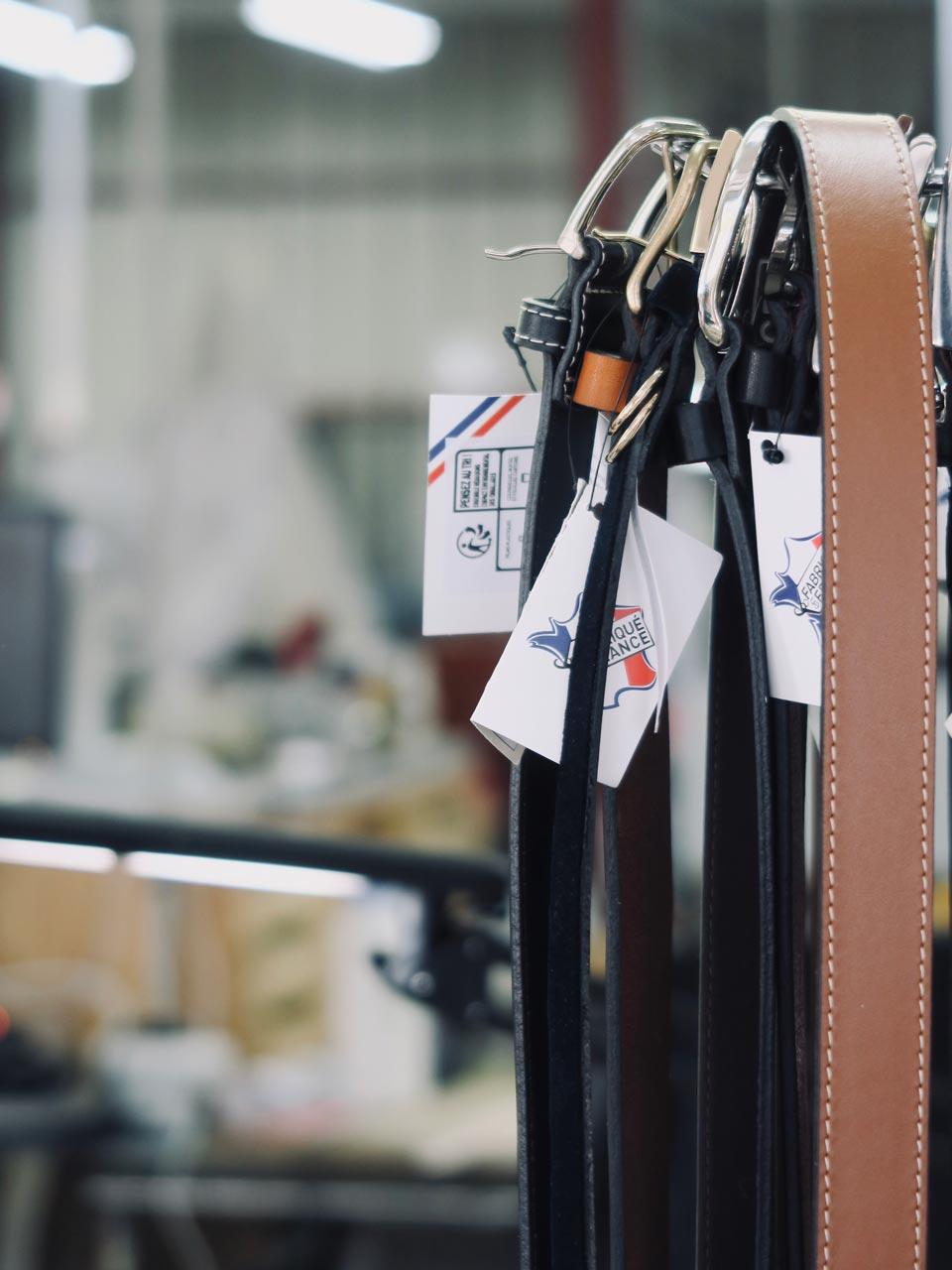 Cuir du Vaudreuil ceintures made in France