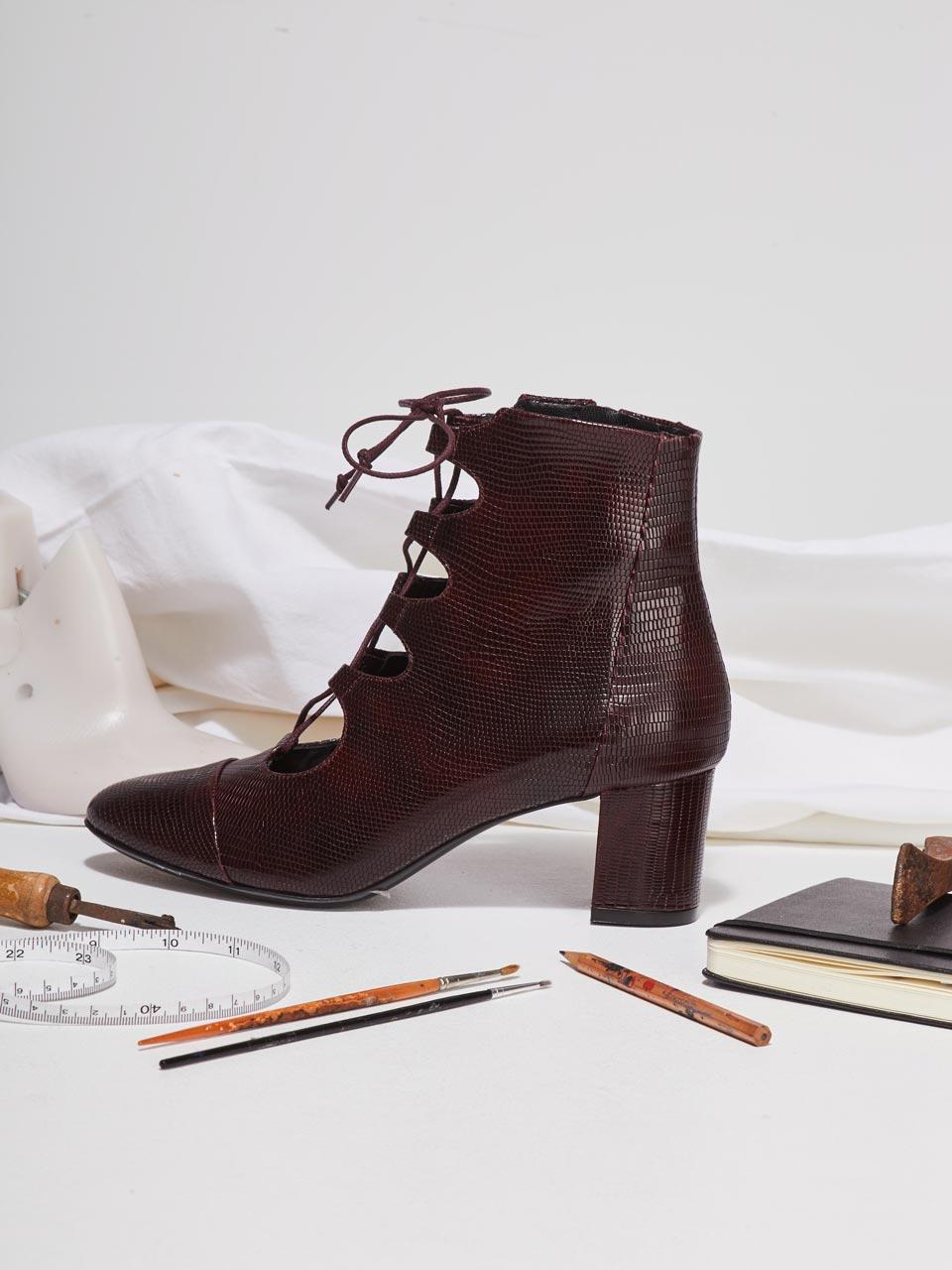 etre amis chaussure talon cuir