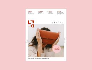 magazine leather fashion design