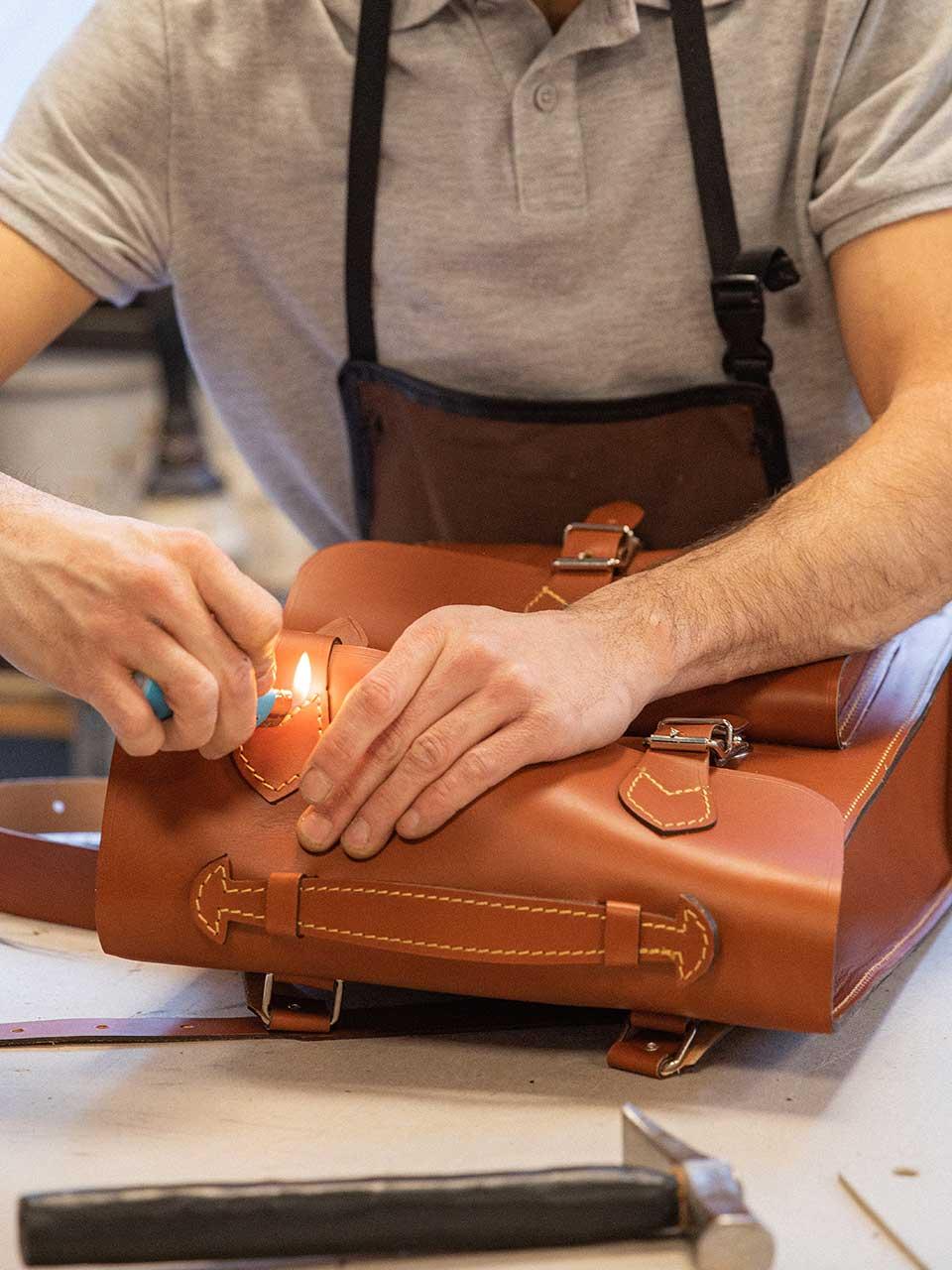 Valet de pique sac à dos cuir