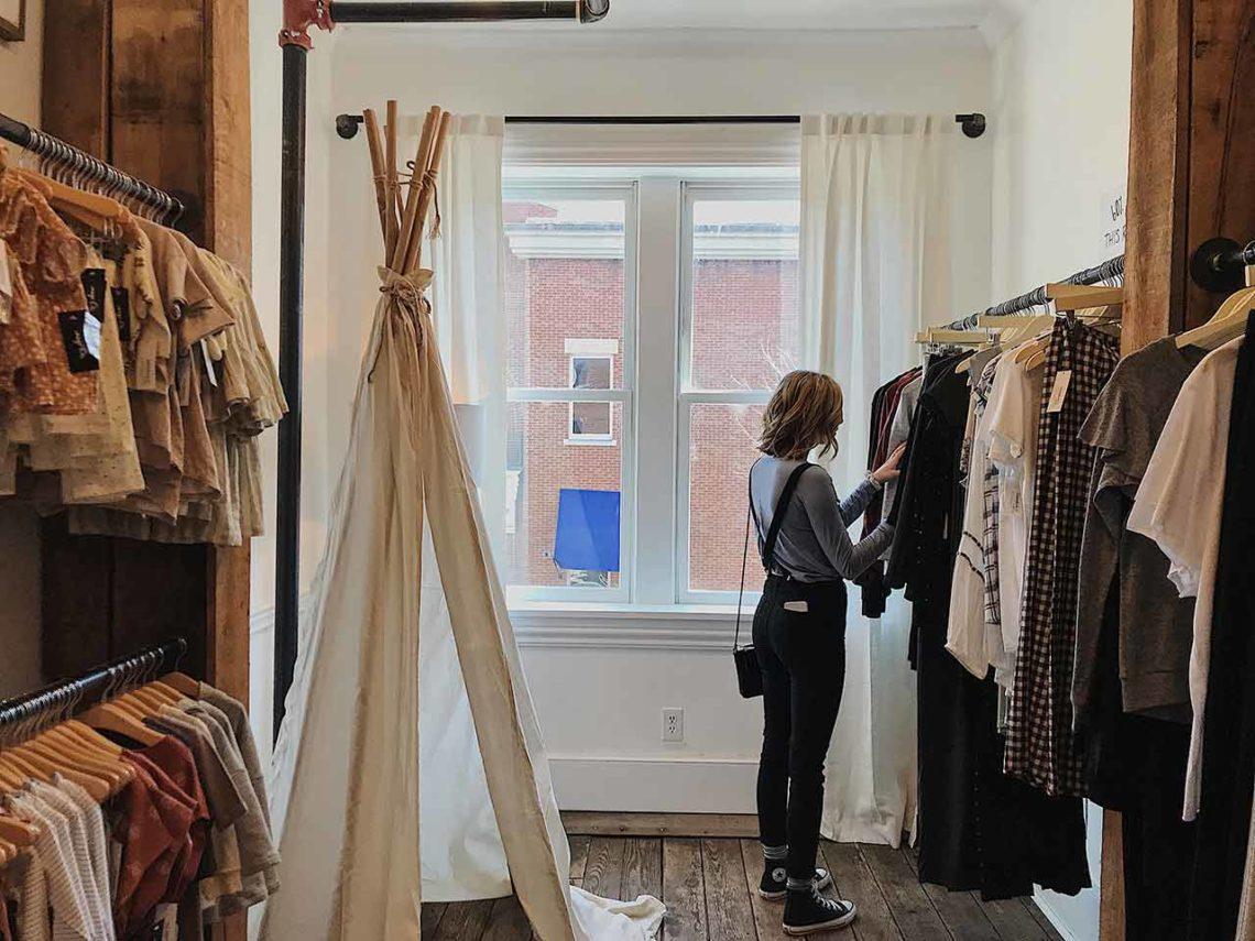 boutique mode consommateur shopping