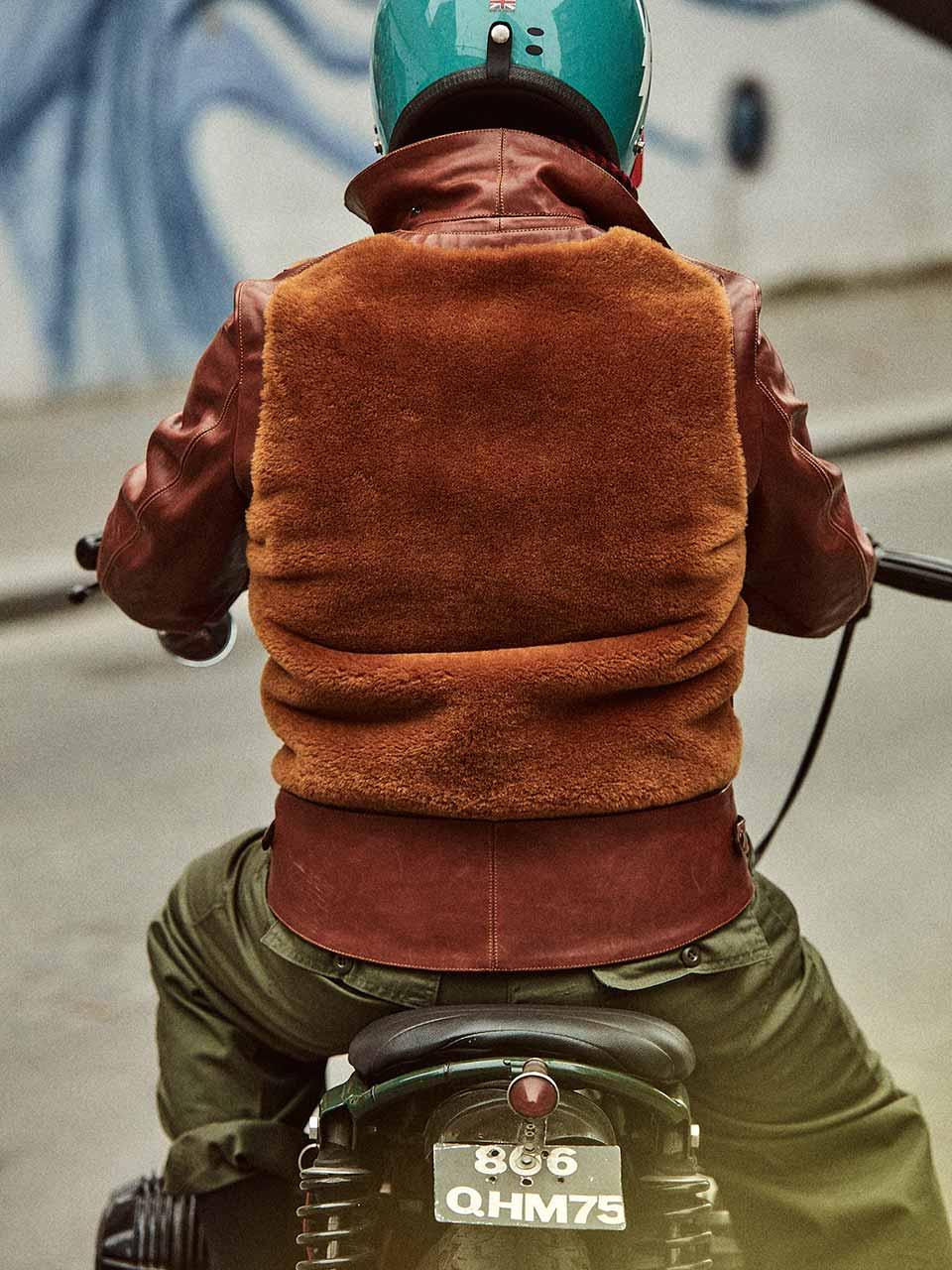 Alice Balas veste grizzly homme cuir