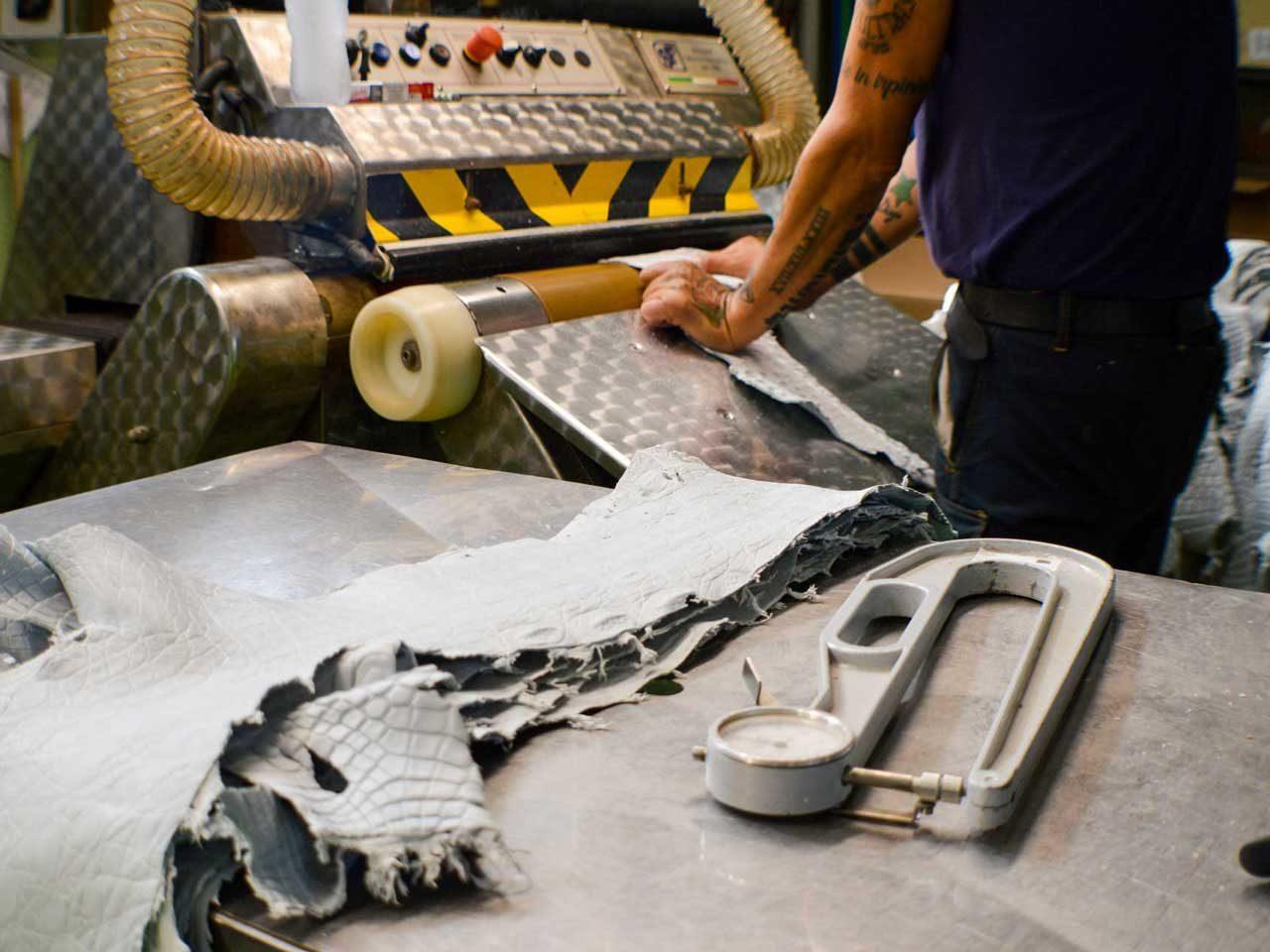 Cuir alligator metal free tannerie La Patrie