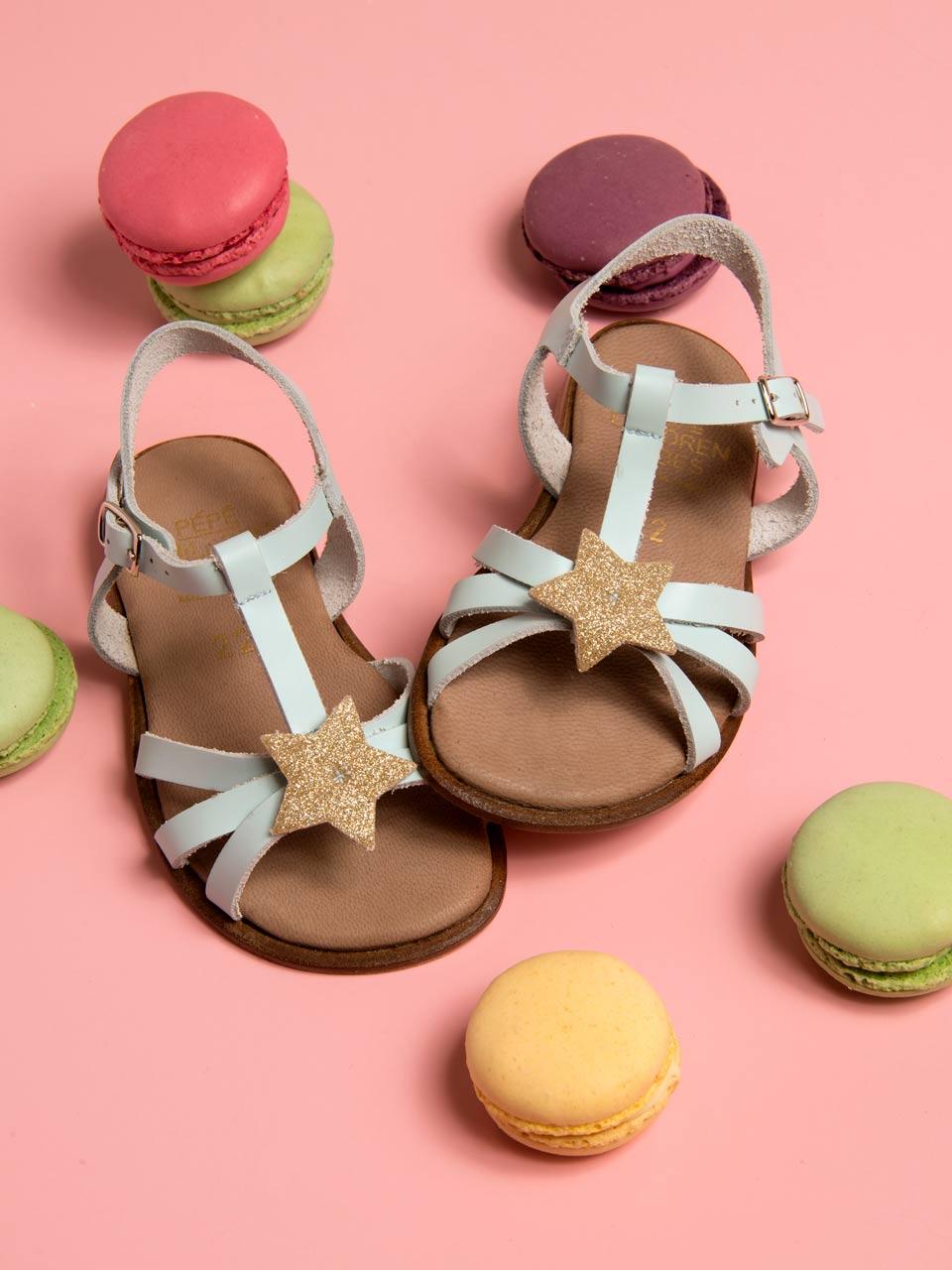 PèPè sandale étoile cuir