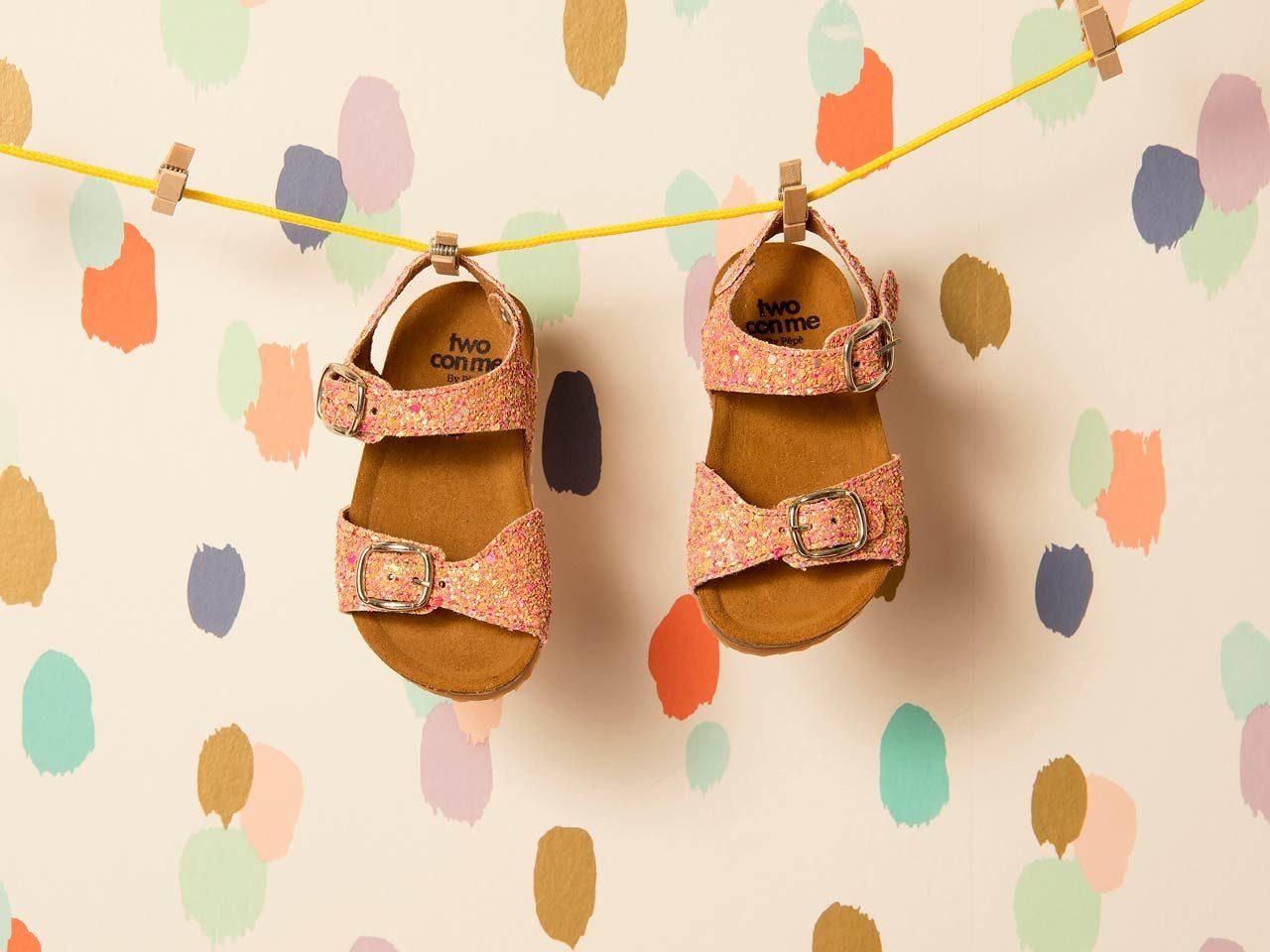 Tu Con Me sandales enfants paillettes