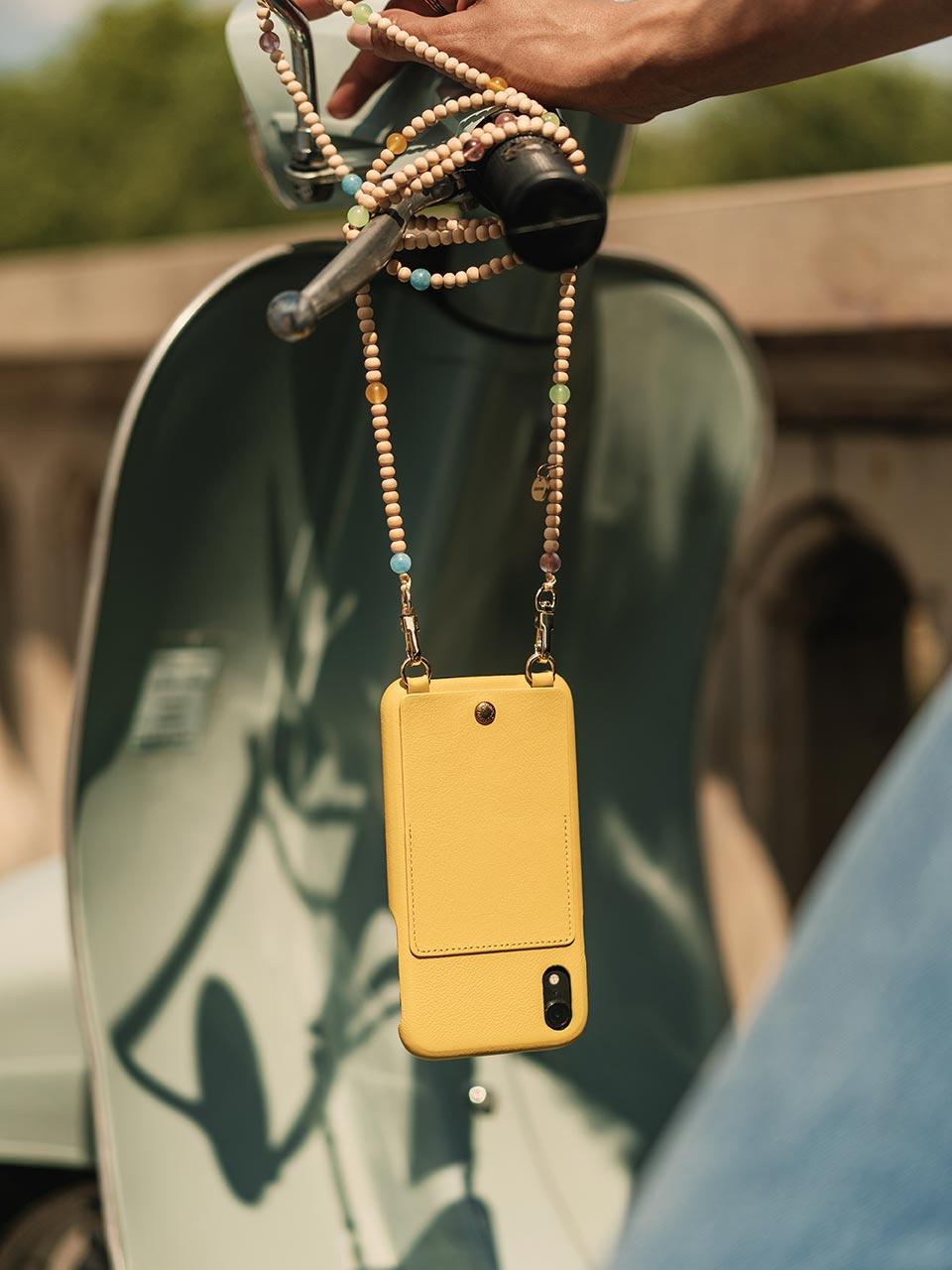 Louvini coque téléphone cuir