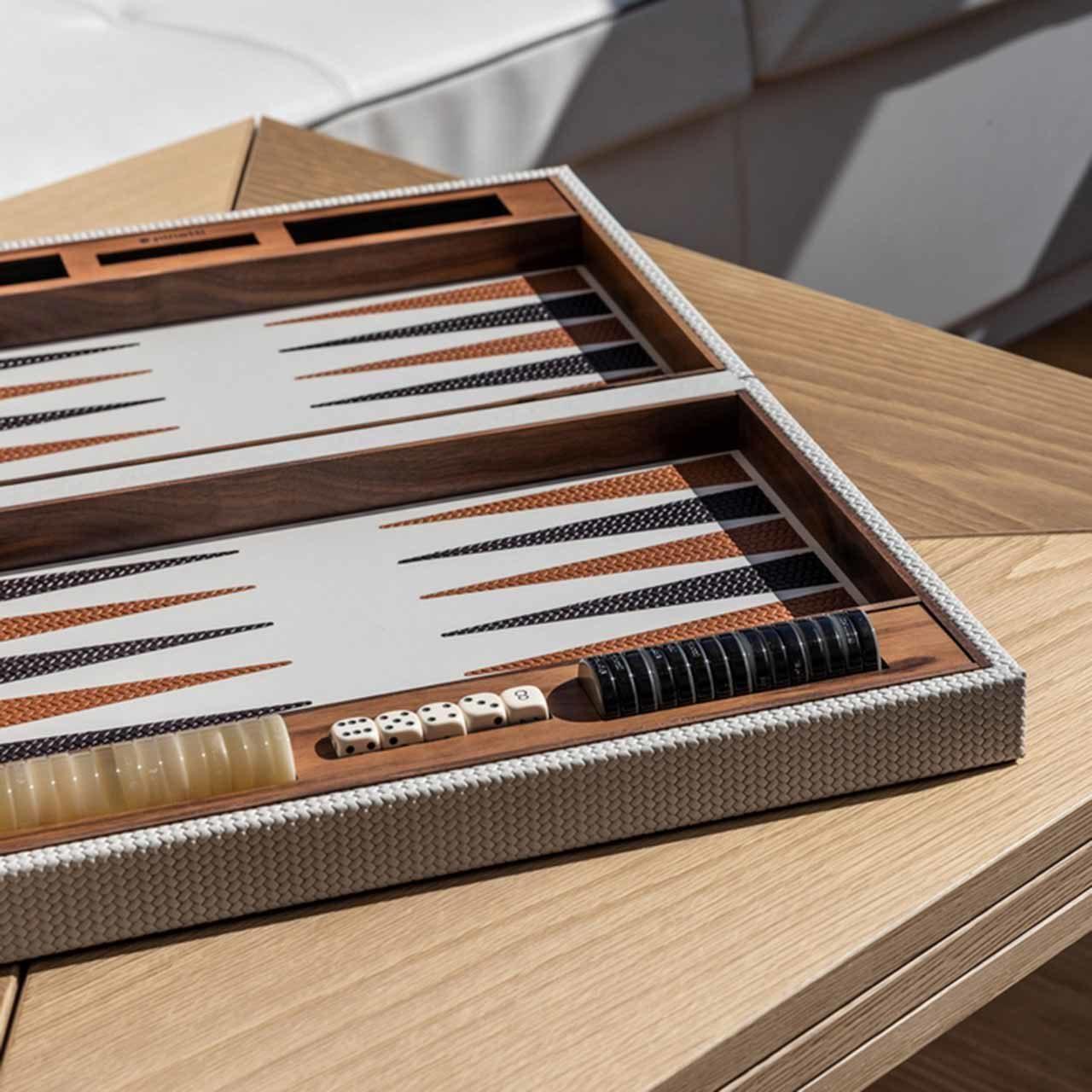 Coffret Backgammon cuir Paneva