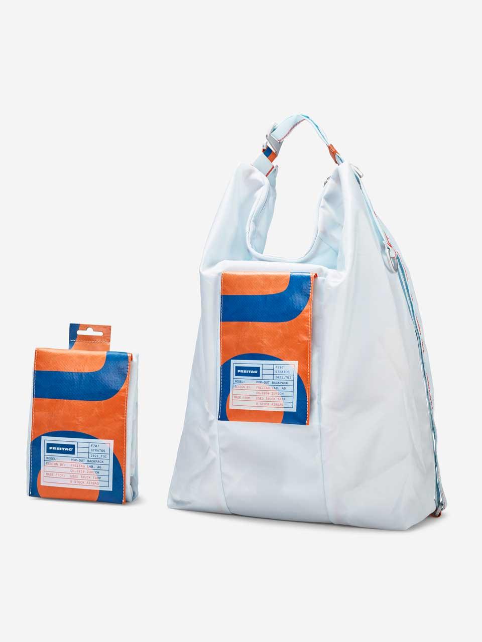 F707Stratos bag FREITAG LightBlue upcycling airbag